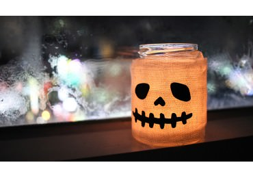 Make a Halloween Ghost Candle Holder